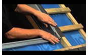 How to install a Velux roof window in a slate roof at recessed height