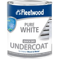 Fleetwood Quick Dry Primer Undercoat Pure White Paint - 750ml