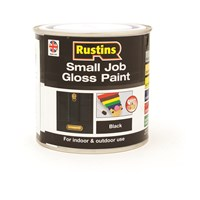 Rustins  Small Job Gloss Paint Black - 250ml