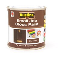 Rustins  Small Job Gloss Paint Chocolate - 250ml