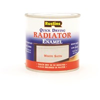 Rustins  Quick Dry White Radiator Paint Satin - 250ml