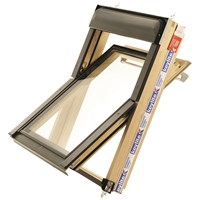 Keylite  Centre Pivot Roof Window with Triple Glazing - Pine