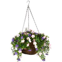 Faux Décor  Petunia Hanging Easy Basket - 30cm