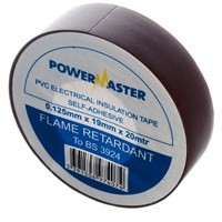 Powermaster  20m PVC Insulating Tape - Brown