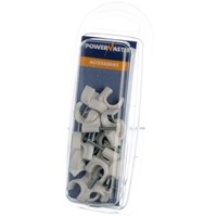 Powermaster  Round Cable Clips - 9mm