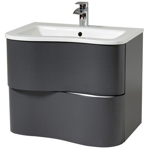 Bella 80cm Wall Hung Vanity Unit & Basin Dusk