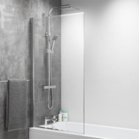 140cm x 80cm Square Bathscreen