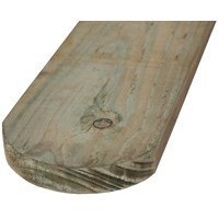 SNR  Treated Rounded Timber Fence Panel - 150 x 22mm
