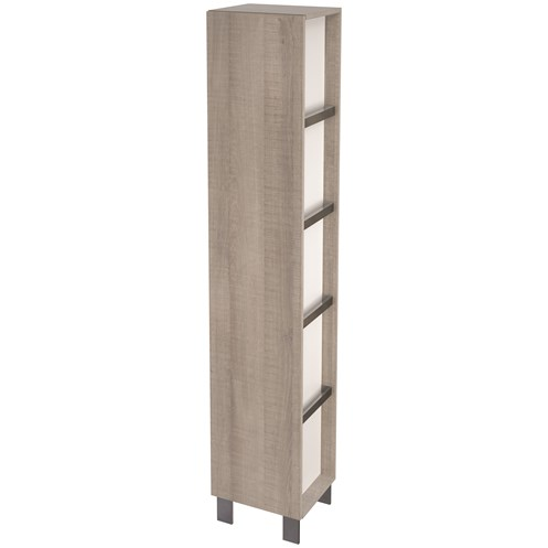 City 35cm Side Cabinet Grey Oak