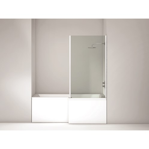 L Shape Righthand Single Ended Shower Bath & Panel 1700x850