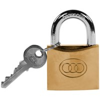 Tri- Circle  Heavy Duty Brass Padlock - 32mm