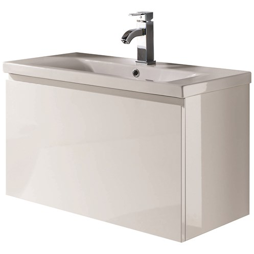 Pablo 80cm Wall Hung Vanity Unit & Basin White